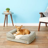 K&H Pet Products Pillow-Top Orthopedic Lounger Dog & Cat Bed, Tan, Small