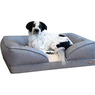 K&H Pet Products Pillow-Top Orthopedic Lounger Dog & Cat Bed, Large, Gray