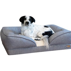 K&H Pet Products Pillow-Top Orthopedic Bolster Cat & Dog Bed