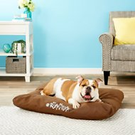 K&H Pet Products K-9 Ruff n' Tuff Indoor/Outdoor Pillow Dog Bed, Chocolate, Medium