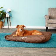K&H Pet Products K-9 Ruff n' Tuff Indoor/Outdoor Pillow Dog Bed, Chocolate, Large