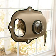 K&H Pet Products EZ Mount Window Bubble Pod Cat House, Tan