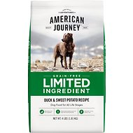 American Journey Limited Ingredient Grain-Free Duck & Sweet Potato Recipe Dry Dog Food, 4-lb bag
