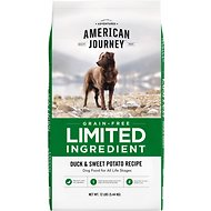 American Journey Limited Ingredient Grain-Free Duck & Sweet Potato Recipe Dry Dog Food, 12-lb bag