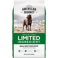 American Journey Limited Ingredient Grain-Free Duck & Sweet Potato Recipe Dry Dog Food, 24-lb bag
