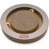 K&H Pet Products Kitty Tippy Round Cardboard Scratcher Interactive Cat Toy, Round