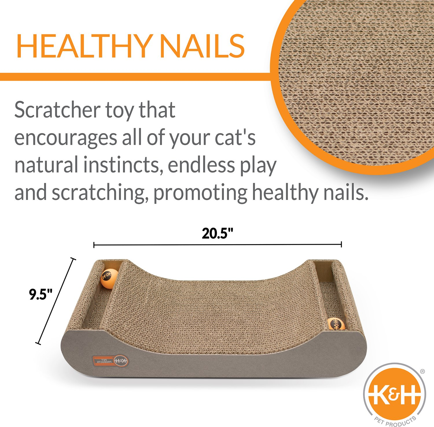 K&H Pet Products Kitty Tippy Scratch n' Track Cardboard ...