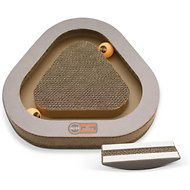 K&H Pet Products Kitty Tippy Triangle Cardboard Scratcher Interactive Cat Toy, Triangle
