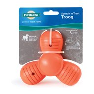 PetSafe Sportsmen Squeak-N-Treat Troog Dog Toy, Medium