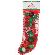 Zanies Secret Santa Stuffed Cat Stocking, 18-piece