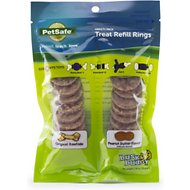 Busy Buddy Peanut Butter & Rawhide Variety Pack Refill Rings Dog Treat, Small