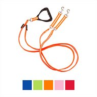 Nite Beams LED Rechargeable Dual Dog Leash, Small, Orange