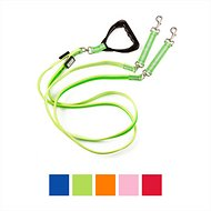 Nite Beams LED Rechargeable Dual Dog Leash, Small, Green