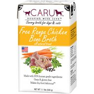 Caru Free Range Chicken Bone Broth for Dogs & Cats, 1.1-lb box