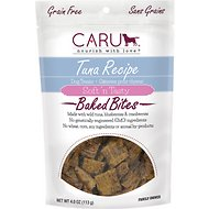 Caru Soft 'n Tasty Baked Bites Tuna Recipe Grain-Free Dog Treats, 4-oz bag