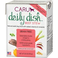 Caru Daily Dish Beef Stew Grain-Free Wet Dog Food, 12.5-oz, case of 12