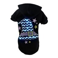 Pet Life LED Lighting Magical Hat Hooded Dog Sweater, Small