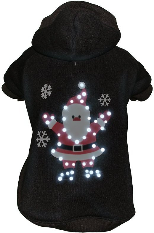 video  sc 1 st  Chewy.com & Pet Life LED Lighting Juggling Santa Hooded Dog Sweater X-Small ... azcodes.com