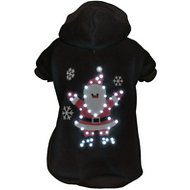 Pet Life LED Lighting Juggling Santa Hooded Dog Sweater, X-Small