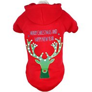 Pet Life LED Lighting Christmas Reindeer Hooded Dog Sweater, X-Small
