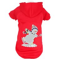 Pet Life LED Lighting Holiday Snowman Hooded Dog Sweater, X-Small