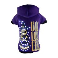 Pet Life LED Lighting Halloween Pumpkin Hooded Dog Sweater, Large