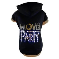 Pet Life LED Lighting Halloween Party Hooded Dog Sweater, X-Small