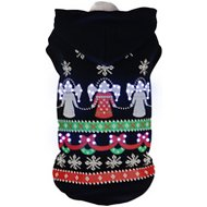 Pet Life LED Lighting Patterned Holiday Hooded Dog Sweater, Small