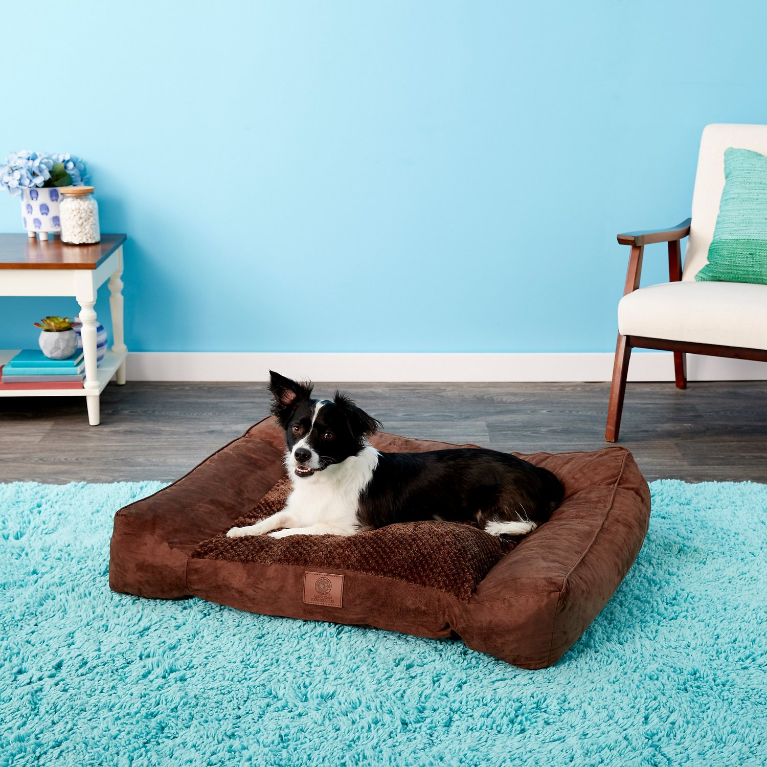Picture of: American Kennel Club Extra Large Memory Foam Pillow Dog Bed W Removable Cover Brown Chewy Com