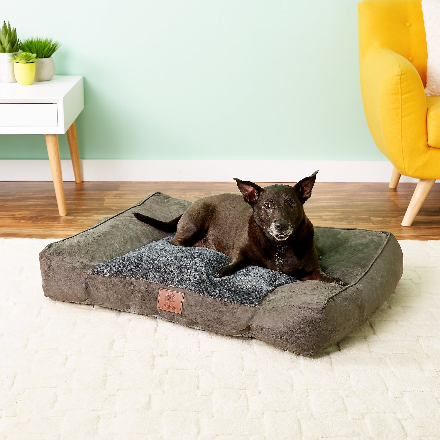 American Kennel Club Memory Foam Sofa Extra Large Dog Bed Gray