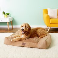 American Kennel Club Memory Foam Sofa Dog Bed, Tan