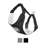 American Kennel Club 2 in 1 Dog Harness, Black, X-Small/Small