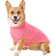 Chilly Dog Pink Cable Dog & Cat Sweater, Medium