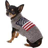 Chilly Dog American Flag Dog & Cat Sweater, XX-Small