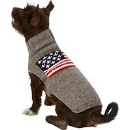 Chilly Dog American Flag Dog & Cat Sweater, Small