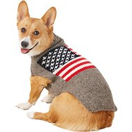 Chilly Dog American Flag Dog & Cat Sweater, Medium