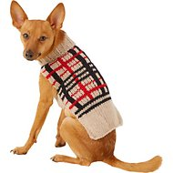 Chilly Dog Tan Plaid Dog & Cat Sweater, X-Small