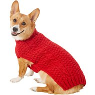 Chilly Dog Red Cable Dog & Cat Sweater, Medium