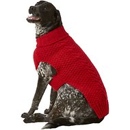Chilly Dog Red Cable Dog & Cat Sweater, XX-Large