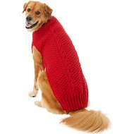 Chilly Dog Red Cable Dog Sweater, 3X-Large
