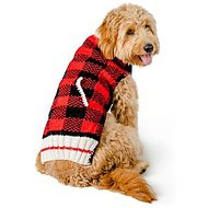 Chilly Dog Buffalo Plaid Dog & Cat Sweater, X-Large