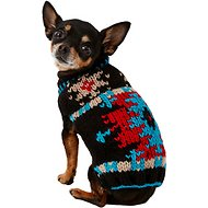 Chilly Dog Black Southwest Dog & Cat Sweater, XX-Small
