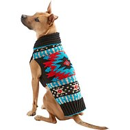 Chilly Dog Black Southwest Dog & Cat Sweater, X-Large