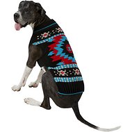 Chilly Dog Black Southwest Dog & Cat Sweater, 3X-Large