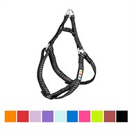 Pawtitas Step-In Reflective Dog Harness, Black, X-Small