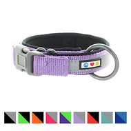 Pawtitas Soft Adjustable Reflective Padded Dog Collar, XX-Small, Purple Orchid