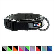 Pawtitas Soft Adjustable Reflective Padded Dog Collar, Black, Large/X-Large