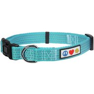 Pawtitas Reflective Dog Collar, Teal, Small