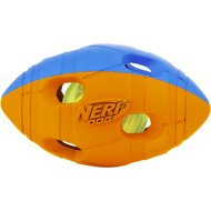 Nerf Dog Light Up Bash Football Dog Toy, Small, Orange & Blue