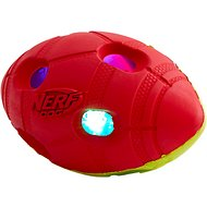 Nerf Dog Light Up Bash Football Dog Toy, Medium, Yellow & Red
